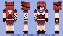 Human Foxy (Female Version) FNAF Minecraft Skin