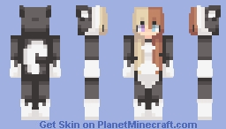 ƁℓυєAηgєℓ ~ Black/White Cat // Video In Desc Minecraft Skin