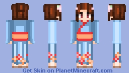 Yukata or kimono I don't really know but it's for the skin contest Minecraft