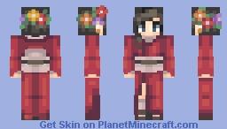 ⌊uℵašoα⌊ ~ Kimono Flora Minecraft Skin