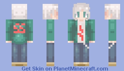 Nagito Komaeda - Danganronpa Minecraft Skin