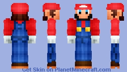Mario HD and 3D Minecraft Skin