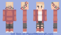 ƁℓυєAηgєℓ ~ Red Flowers // Request Minecraft Skin