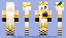 Golden Queen Minecraft Skin