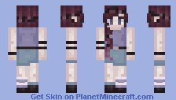 you liked me, because i was blue.. Minecraft Skin
