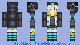 [Eeveelutions] Shiny Umbreon Minecraft Skin
