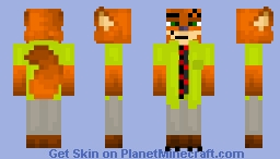 Nick Wilde - Zootopia [BETTER IN 3D] Minecraft Skin