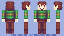 Undertale Chara (looks better in description preview) Minecraft Skin