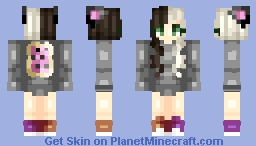 Nyan Cat Inspired (Sorta Not Really) Skin, Plus Info In Description Minecraft Skin