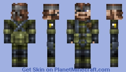 Naked Snake (Big Boss) 1.8+ UPDATED Minecraft