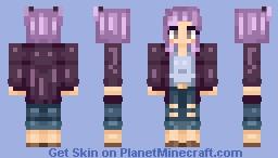 ♥~ Rere ~♥ Request | Purple Hair Minecraft Skin