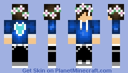 Blue Boy with Flower Crown Minecraft Skin