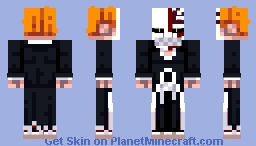 Visored Ichigo (Bleach) Minecraft Skin
