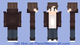 Boy in a Brown Jacket Minecraft Skin