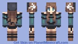 Fancy Brunette Minecraft Skin