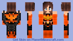 Halloween Batgirl (DC Bombshells) Minecraft Skin