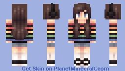 rainbow teen Minecraft Skin