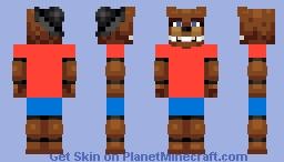 Freddy Fazbear w/ Clothes Minecraft Skin