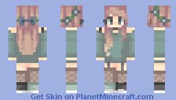 Green Floral (250!!) Minecraft Skin