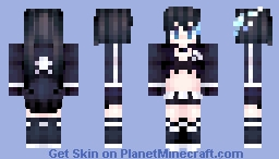 Black Rock Shooter★ [UPDATED 7/25/16] Minecraft Skin