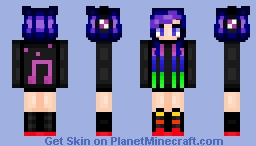 муѕтιςαℓ  - Music girl Minecraft Skin