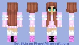Pretty Summer Girl Minecraft Skin