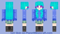 feel you | Girl - Daoko (uniform ver.) Minecraft Skin