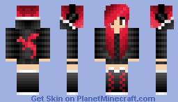 Red teen girl Minecraft Skin