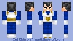 Vegeta Minecraft Skin
