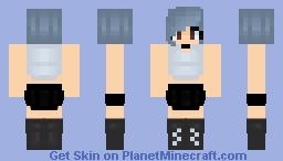 Short Haired Emo Girl Minecraft Skin