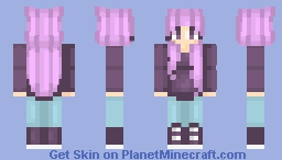 Pink purple k Minecraft Skin