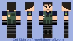 Chris Redfield (RE6) Minecraft Skin