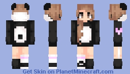 ƁℓυєAηgєℓ ~ Panda Hoodie + Male Version In Desc (REMADE) Minecraft Skin
