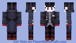 P5- Joker Form Protagonist (Fanart Included!) Minecraft Skin