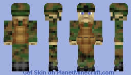 US Marines MARPAT Woodland Minecraft Skin