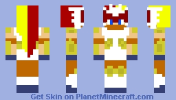 Human Pokemon - Infernape Minecraft Skin