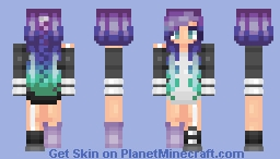 Purple Hair Minecraft Skin