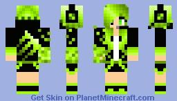 Gamer monster girl (green) Minecraft Skin