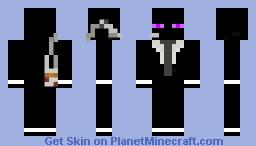 Secret Agent Enderman Minecraft Skin