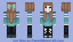 •*Luveyy*• Ocean Blue Minecraft Skin