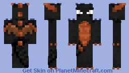 Dark Spyro (TLoS, Dawn of the Dragon) 1.10 Transparent Skin Minecraft Skin