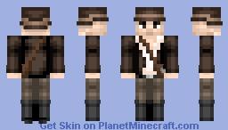 Indiana Jones (Requested) (Christmas + Halloween vers.) Minecraft Skin
