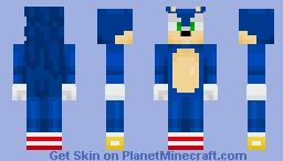 Gaming Skins - Soinc the Hedgehog Minecraft Skin