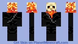 Fire skeleton Minecraft Skin