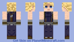 Hero from final fantasy VII Minecraft