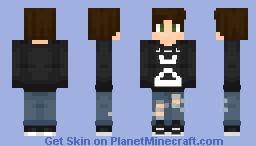 ᴊ̲ᴜᴘɪᴛᴇʀs Fall Out Boy - Boy (Black ver. in Desc) Minecraft Skin