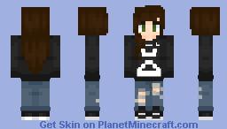 ᴊ̲ᴜᴘɪᴛᴇʀs Fall Out Boy - Girl (Black ver. in Desc) Minecraft Skin