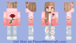 Rose + 2 Versions | 1,000 ♡ Minecraft Skin
