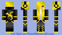 Brass Dragon Girl Minecraft Skin