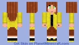 Girl in yellow hoodie Minecraft Skin